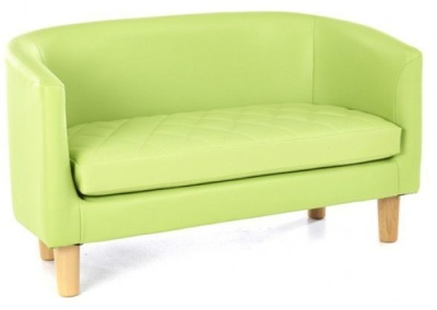 Tyrone Two Seater Sofa Lime Green