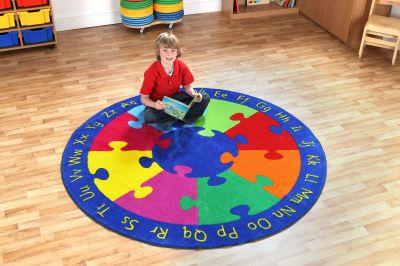 Round Jigsaw Carpet 2