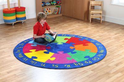 Round Jigsaw Carpet 3