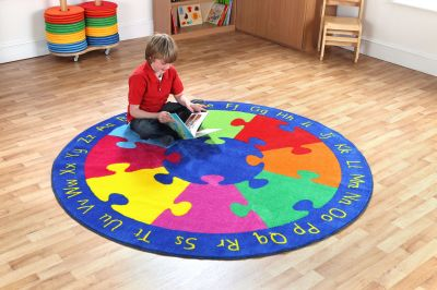 Round Jigsaw Carpet 4