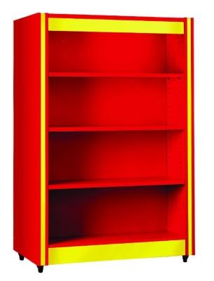 Double Sided Bookshelf With Flat Shelves Spectrum Edu Quip