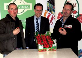 First strawberries sold at REO