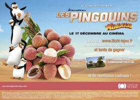 Compagnie Fruitiere links with Penguins of Madagascar