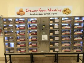 Vegetable vending machine unveiled in UK shopping centre