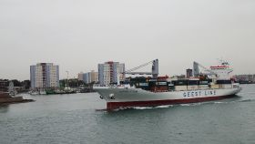 Long-term Geest Line ship marks 100th journey
