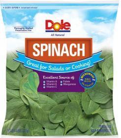 Dole Fresh recalls bagged spinach