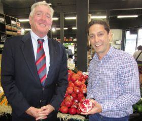 CA pomegranates arrive in Aus