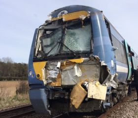 Tractor in train crash 'not working on asparagus land'
