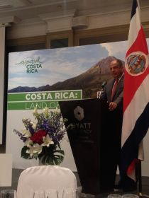 Costa Rica president attends trade lunch on first UK visit