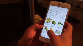 Forty per cent of online groceries ordered on a mobile