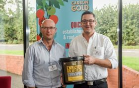 Carbon Gold Simon Manley CEO and James Macphail Commercial Director with Enriched Biology Blend