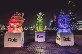 Dole uses ice stunt to promote new range
