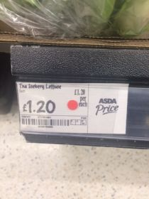 Asda selling US iceberg for £1.20