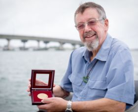 David Steven presented with Hayward Medal