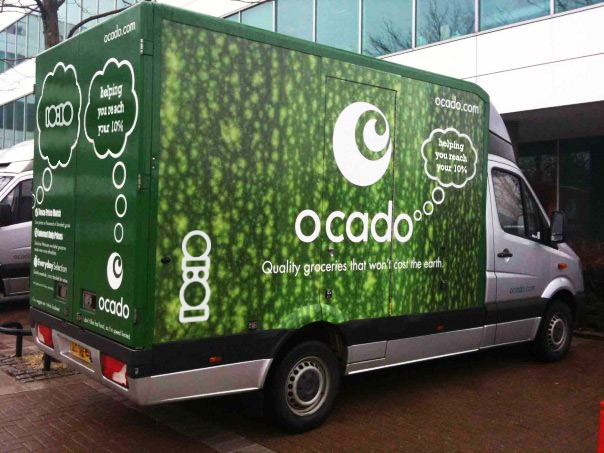 Ocado blames shortage of drivers for slowdown in sales