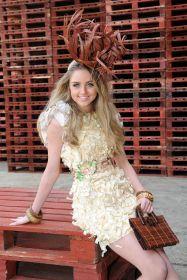 Miss England finalist wears pallet dress