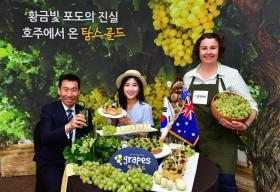 Aussie grapes go for gold in Korea