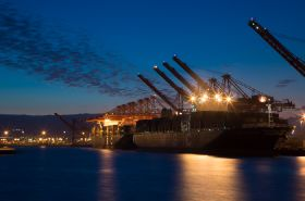 Volumes down at Port of Long Beach