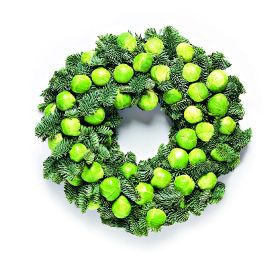 Waitrose creates 'first-ever' sprout wreath