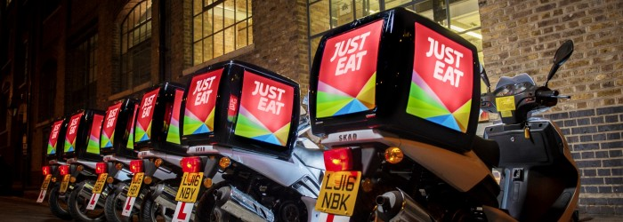 p20 big GB Just Eat scooters