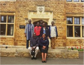 Marshal Papworth students arrive in UK