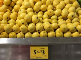 Coles first to squeeze imported lemons