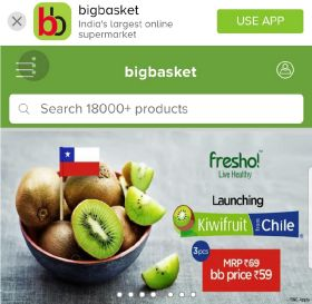 Chilean fruit makes online debut in India