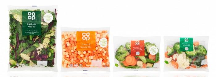 New Co-op packaging for prepared veg