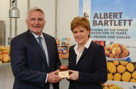 Sturgeon opens Albert Bartlett's chilled plant