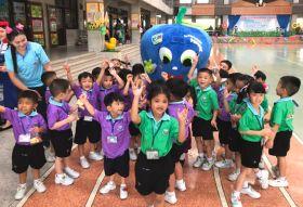 Blue Whale wows Bangkok kids