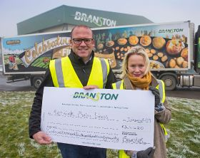 Branston donates £37k to charity