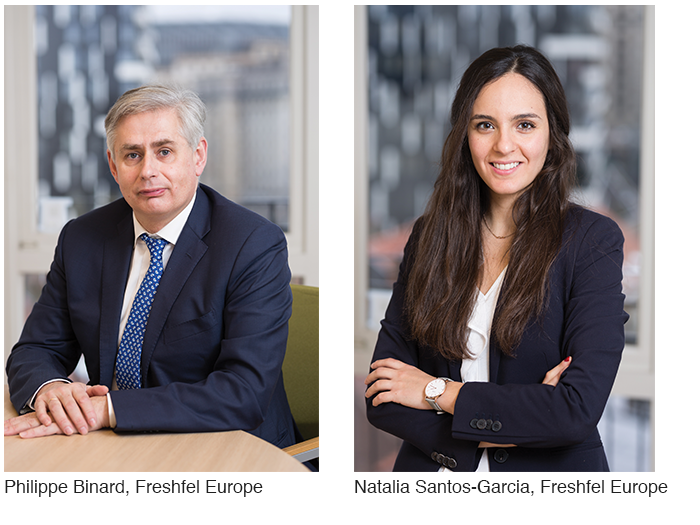 Philippe Binard and Natalia Santos-Garcia of Freshfel Europe