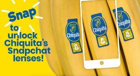 Chiquita partners with Snapchat