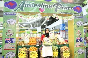 Australian pears land in Indonesia