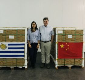 First Uruguayan blues land in China