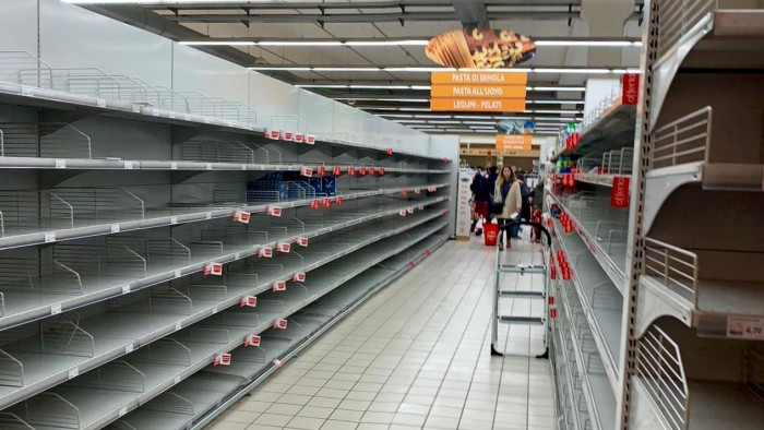 Cesena supermarket coronavirus February 2020 1