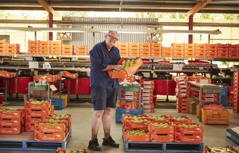 Manbulloo Quality Manager Scott Ledger at Hilltop packhouse