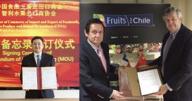 Chile and China sign fresh fruit MOU