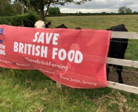 Banner campaign to 'save British farming'