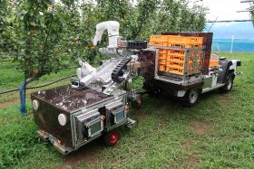 New robotic harvester developed in Japan