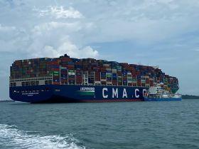 CMA CGM vessel breaks container record