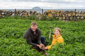 Scotty Brand celebrates first Ayrshire potatoes