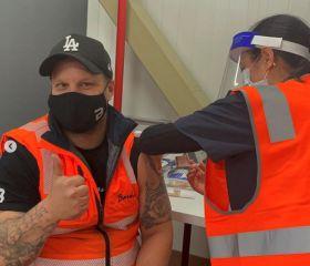 Melbourne market sets up vaccination hub
