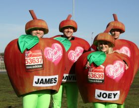Runners chow down on Pink Lady apples