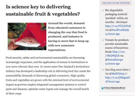 Plant & Food Research launches blog