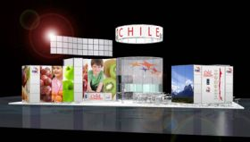 Chile unveils biggest-ever stand