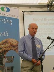 Sterilant re-launch at Fruit Focus