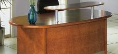 Hand Crafted Real Wood Veneer Reception Desks