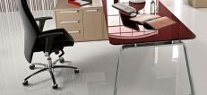 Seventies Retro Glass Executive Furniture
