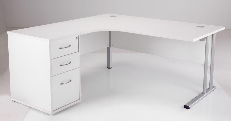 Corner Desk And Desk Height Pedestal Flite Office Reality